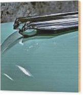 1956 Cadillac Lasalle Hood Ornament Wood Print
