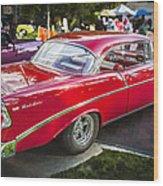 1956 Chevrolet Bel Air 210 Wood Print