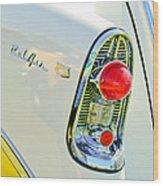 1956 Chevrolet Beliar Nomad Taillight Emblem Wood Print
