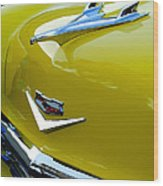 1956 Chevrolet Hood Ornament 3 Wood Print