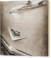 1956 Chevrolet Hood Ornament - Emblem Wood Print