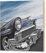 1956 Chevrolet With Blue Skies Wood Print