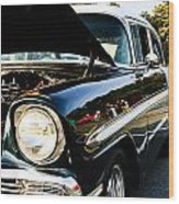 1956 Chevy Bel Air Down The Side Wood Print