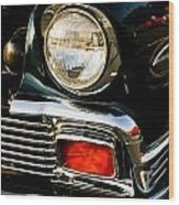 1956 Chevy Bel Air Head Light Wood Print
