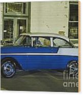 1956 Chevy Bel Air Wood Print