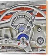 1956 Chevy Corvette Dash Wowc Wood Print