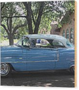 1956 Classic Cadillac Left View Wood Print
