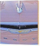 1956 Desoto Fireflite Sportsman Hardtop Hood Ornament Wood Print