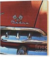 1956 Dodge 500 Series Photo 2b Wood Print by Anna Villarreal Garbis