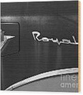 1956 Dodge 500 Series Photo 3 Wood Print by Anna Villarreal Garbis
