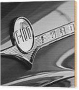 1956 Ford F-100 Pickup Truck Emblem Wood Print