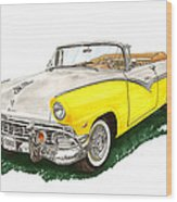 Ford Sunliner Convertible Wood Print