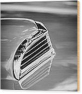 1956 Ford Thunderbird Hood Scoop -287bw Wood Print