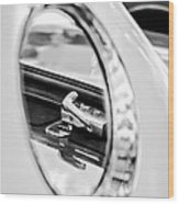 1956 Ford Thunderbird Latch -417bw Wood Print