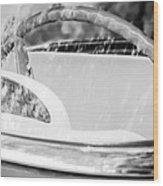1956 Ford Thunderbird Steering Wheel -402bw Wood Print