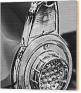 1956 Ford Thunderbird Taillight -247bw Wood Print