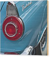 1956 Ford Thunderbird Taillight And Emblem Wood Print