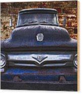 1956 Ford V8 Wood Print