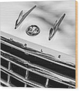 1956 Hudson Rambler Station Wagon Grille Emblem - Hood Ornament Wood Print by Jill Reger
