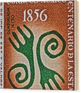 1956 Mexico Stamp Wood Print
