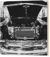 1956 Midnight Black Chevy Wood Print