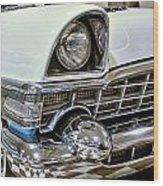 1956 Packard Caribbean Grill Wood Print