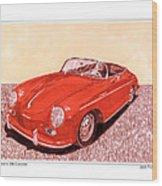 1956 Porsche 356 Cabriolet Wood Print