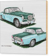 1956 Studebaker Coming And Going Wood Print