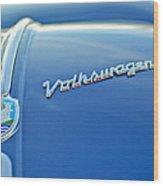 1956 Volkswagen Vw Bug Hood Emblem Wood Print