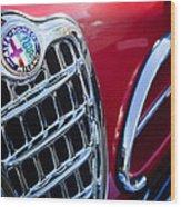 1957 Alfa-romeo 1900c Super Sprint Grille Emblem Wood Print