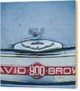 1957 Aston Martin Db2-4 Mark IIi Emblem Wood Print