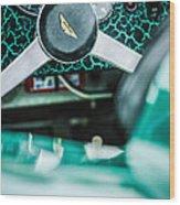 1957 Aston Martin Dbr2 Steering Wheel Emblem -2345c Wood Print