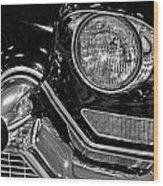 1957 Cadillac Coupe De Ville Headlight Wood Print