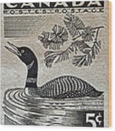 1957 Canada Duck Stamp Wood Print