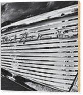 1957 Chevrolet Bel Air Monochrome Wood Print