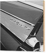 1957 Chevrolet Belair Convertible Taillight Emblem Wood Print