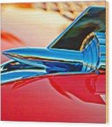 1957 Chevrolet Belair Hood Ornament Wood Print by Jill Reger