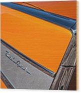1957 Chevrolet Belair Rear Emblem -037c Wood Print