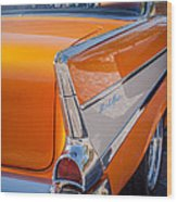 1957 Chevrolet Belair Taillight Emblem -019c Wood Print