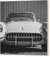 1957 Chevrolet Corvette -0010bw Wood Print