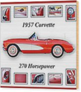 1957 Chevrolet Corvette Art Wood Print