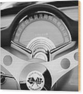 1957 Chevrolet Corvette Convertible Steering Wheel 2 Wood Print