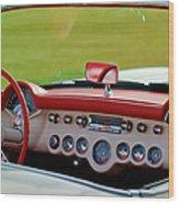 1957 Chevrolet Corvette Roadster Dashboard Wood Print