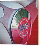 1957 Chevrolet Corvette Steering Wheel -294c Wood Print
