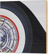 1957 Chevrolet Corvette Wheel Wood Print