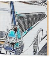 1957 Chevrolet Bel Air Art White Wood Print
