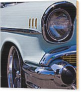 1957 Chevy Bel Air Custom Hot Rod Wood Print