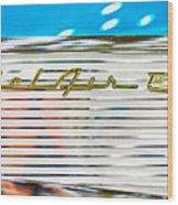 1957 Chevy Bel Air Emblem Wood Print