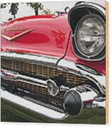 1957 Chevy Bel Air Front End Wood Print