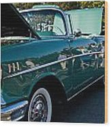 1957 Chevy Bel Air Green Right Side Wood Print